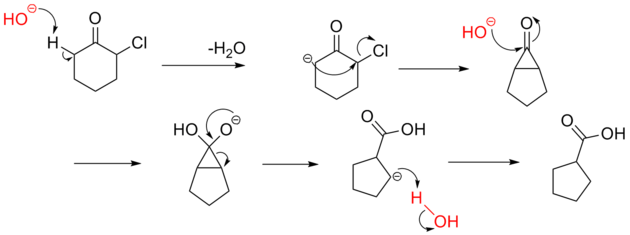Favorskii rearrangement mechanism
