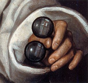 Fede Galizia - Close-up of reflection in the glass lenses of Portrait of Paolo Morigia (1596)