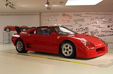 308 GT/M on display at the Museo Ferrari