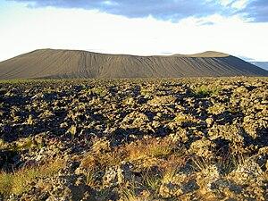 Mývatn - The Hverfjall crater, immediately east of Mývatn