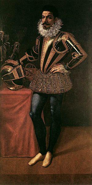 Giovanni Ambrogio Figino - Portrait of Field Marshal Lucio Foppa, ca. 1590.