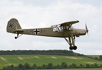 Fieseler Fi 156 - Storch in flight at Flying Legends (July 2012)