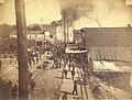 Fire of June 6, 1889, looking south on 1st Ave from Spring St, about one-half hour after the fire started, Seattle, Washington (BOYD+BRAAS 17).jpg