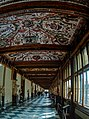 Firenze - Florence - Galleria degli Uffizi - Vasari Corridor 1566 - ICE Photocompilation Viewing SSW & Up.jpg