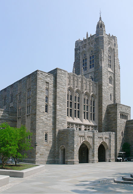 Firestone Library, the largest of Princeton's libraries Firestone Library Princeton front.jpg
