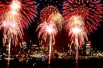 Culture of Detroit - Fireworks at the Windsor-Detroit International Freedom Festival