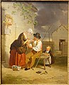 First-Aid by Francis William Edmonds, c. 1840-1845, oil on canvas - Currier Museum of Art - Manchester, NH - DSC07435.jpg