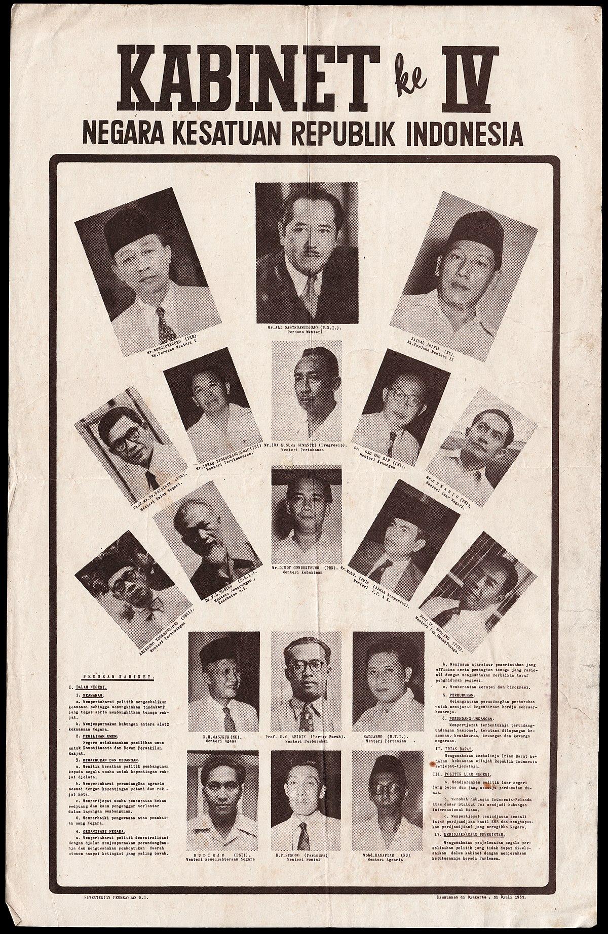 Cabinet of Indonesia  Wikipedia