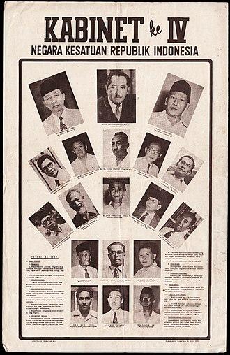 First Ali Sastroamidjojo Cabinet - Image: First Ali Sastroamidjojo Cabinet poster (obverse)