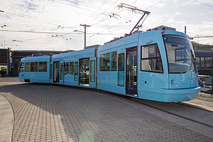 First Hill Streetcar vehicle on display, March 2015.jpg