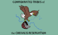 Flag of the Confederated Tribes of the Chehalis Reservation.PNG