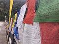 Flags on bridge, Sikkim.jpg