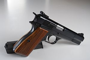 Nothing Lasts Forever (Thorp novel) - A Browning Hi-Power pistol, the main sidearm of Joe Leland