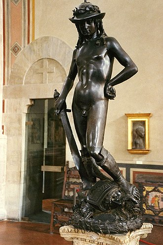 David (Donatello) - Donatello, the bronze David (1440s?)  Museo Nazionale del Bargello   h.158 cm