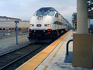 Fontana station (California) - Image: Fontana Metrolink