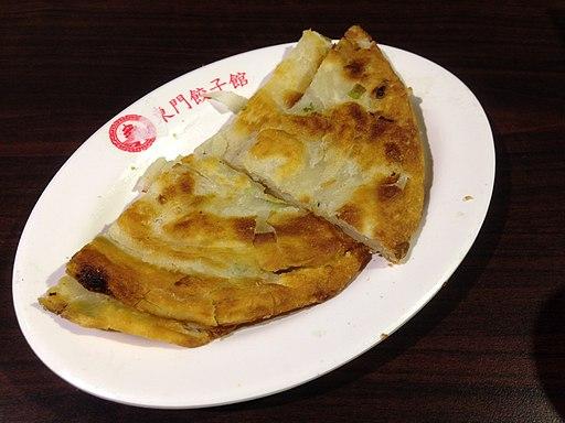 蔥油餅 green onion cake, 東門餃子館, 台北 (14293598550)