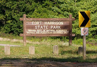 Fort Harrison State Park - Image: Fort Ben bike entrance