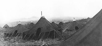 Cape Air Force Base - Personnel tents at Fort Glenn AAB, May 1942