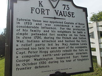 Virginia Landmarks Register - Fort Vause, Virginia