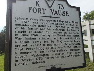Virginia Landmarks Register - Fort Vause, Virginia