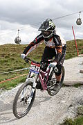 Fort William World Cup DH 2009- Sunday Practice. Sabrina Jonnier.jpg