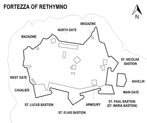 Fortezza Rethymno map.png