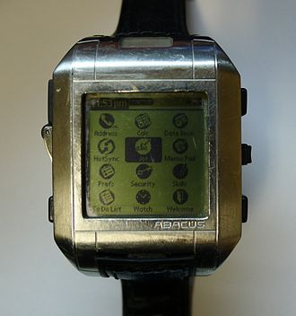 Fossil Wrist PDA - Image: Fossil Wrist PDA with Palm OS front