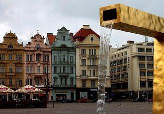 Plzeň Region - Fountain in the Main Square of Plzeň