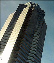 Fox Plaza in Los Angeles, portrayed in the film as Nakatomi Plaza.