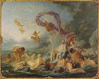 Blåsen nu alla - Image: François Boucher, Venus triumf (1740) 03