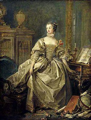 Madame de Pompadour - Madame de Pompadour, portrait by François Boucher