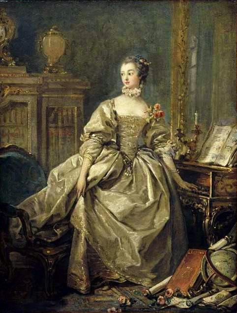 François Boucher - La Marquise de Pompadour 2
