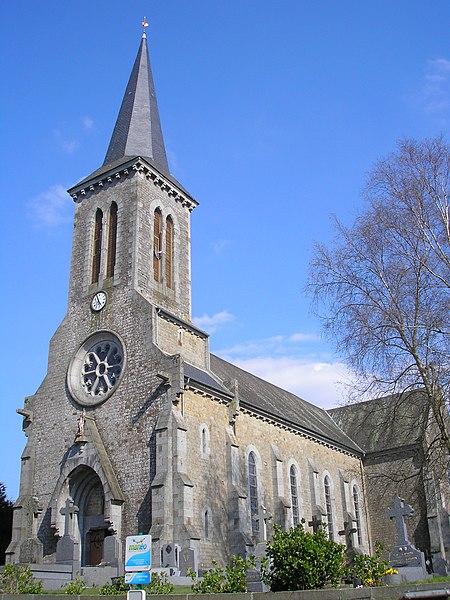 Saint-Pois (Normandie, France). L'église.