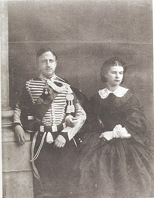 Francis II of the Two Sicilies - Francis II photographed with his wife Maria Sophie c. 1860.