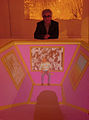 Francesco Lamazza, der Künstler in und hinter einer Video-Installation zur Vernissage der Art(F)Air 2012, Kulturetage SofaLoft, Hannover.jpg