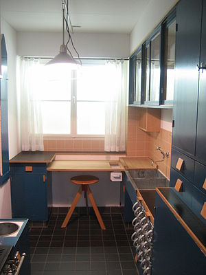 Frankfurt kitchen - The reconstruction shown at MAK Vienna