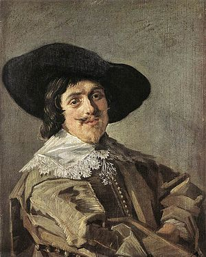 Portrait of a Man in a Yellowish-Gray Jacket - Portrait of a Man in a Yellowish-gray Jacket, c.1633. Oil on oak panel, 24.5 x 19.5 cm