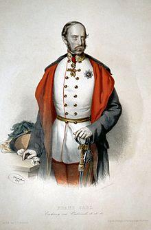 Franz Karl von Österreich, Lithographie von Josef Kriehuber, 1850 (Quelle: Wikimedia)