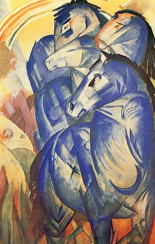 """The Tower of Blue Horses"" by Franz Marc"