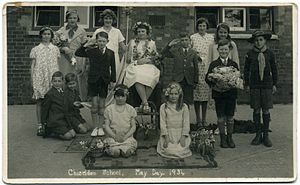 Chiseldon - May Day at Chiseldon School 1934, by Fred C Palmer