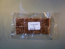 Freeze-dried bacon bars that can be used as camping food Freeze-dried bacon bars.jpg