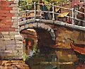 Fresco Grachtje met wandelaars, Delft.jpg