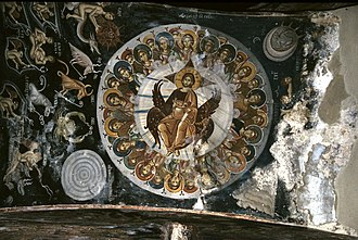 Psalm 148 - Illustration of the Psalm 148 in Lesnovo monastery, 14th century