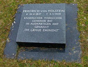Friedrich von Holstein - Grave of Friedrich von Holstein on the Invalidenfriedhof Berlin