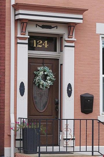 Front door on 17th Street