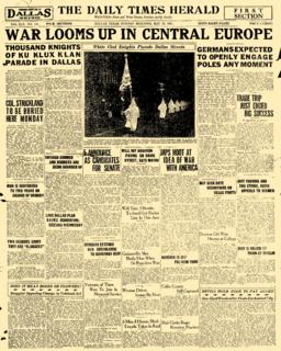 <i>Dallas Times Herald</i> Former daily newspaper in Dallas, Texas