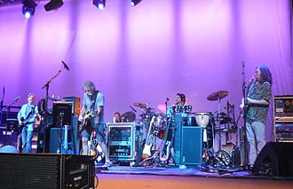 Reunions of the Grateful Dead - Furthur at the Fox Theatre in Oakland on September 18, 2009. Left to right: Phil Lesh, Bob Weir, Joe Russo, Jay Lane, John Kadlecik. Not pictured: Jeff Chimenti