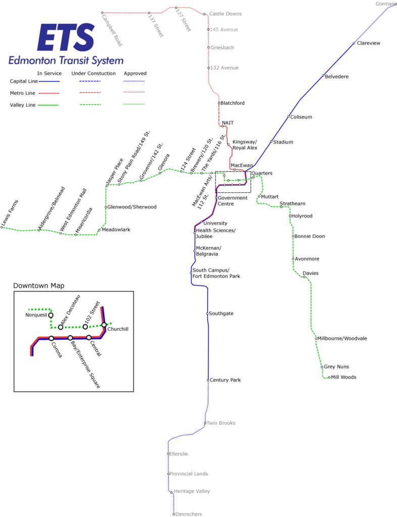 calgary transit system map pdf