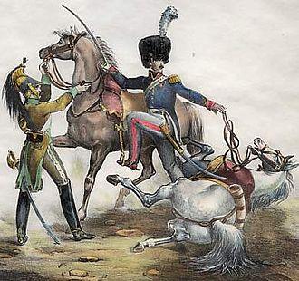 Rémi Joseph Isidore Exelmans - Exelmans at the action of Wertingen
