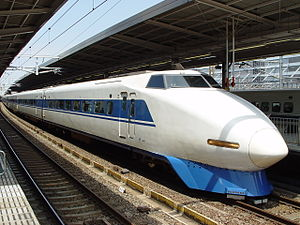100 Series Shinkansen - JR-West set G1 on a Kodama service in May 2003